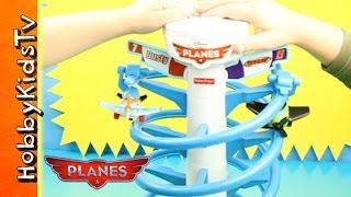 Disney Planes Spiral Flying Racers Dusty and Ripslinger Fisher Price Flight Race HobbyKidsTV