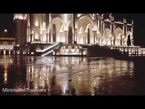 24 Seconds in Baku: Heydar Mosque at night in the rain