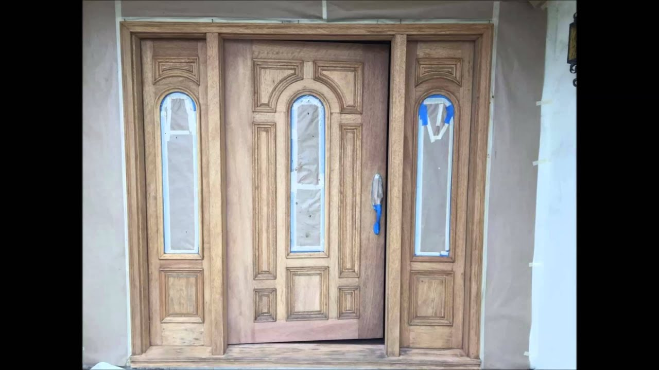 Mahogany Entry Door Refinishing Process   YouTube