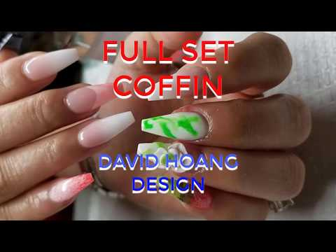the best nail/ DAVID HOANG/MAKE A LONG NAIL SHAPE COFFIN MAKES NO REPRESENTATION/# 2
