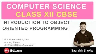 C++ for Class XII CBSE   Introduction to OOP   MySirG.com