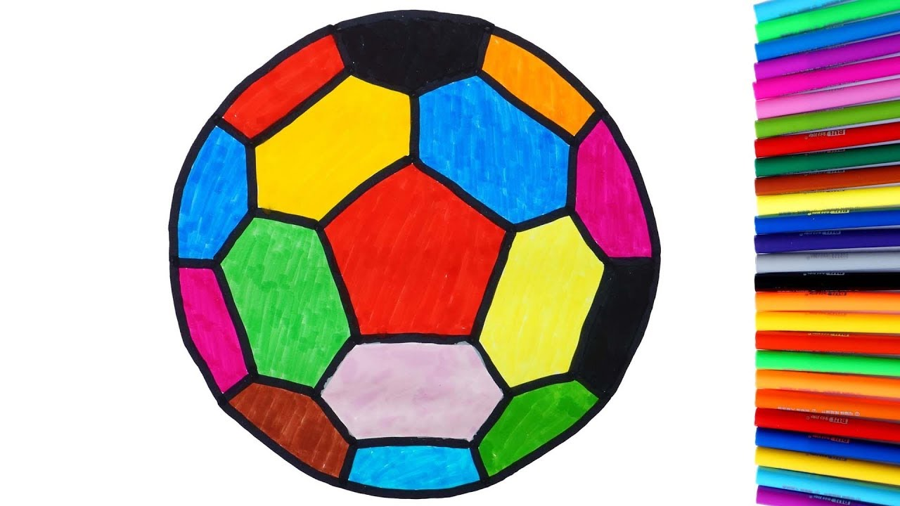 How To Draw And Color Soccer Ball Coloring Pages Videos
