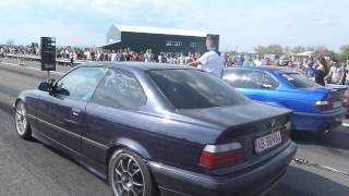 Drag Racing CAMPIA TURZII BMW E36 3.0i vs BMW E36 2.5i