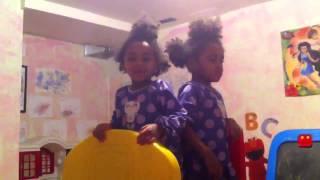 Two Yr Old Twins Sing B-I-N-G-O