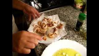 Как приготовить кальмары.Быстро и вкусно кальмары.