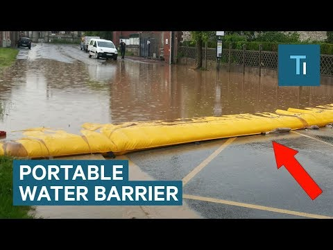 Portable Barrier Can Protect Houses From Flooding