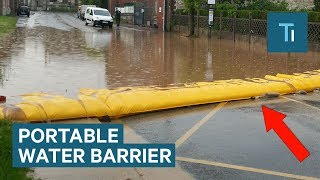 This Portable Barrier Can Protect Houses From Flooding