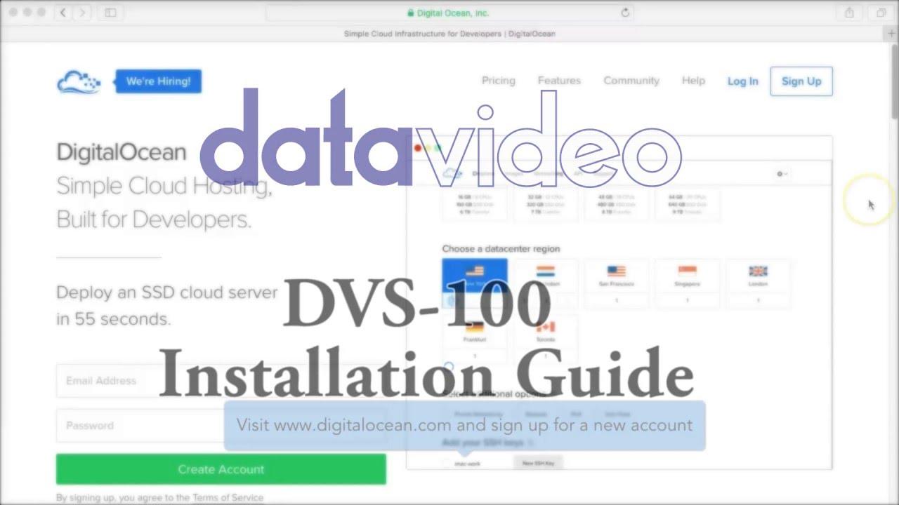 How to Set Up DVS-100 software on Digital Ocean - Datavideo