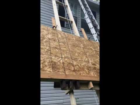 Diy Shingle Elevator Lift 2 Story Roof Youtube