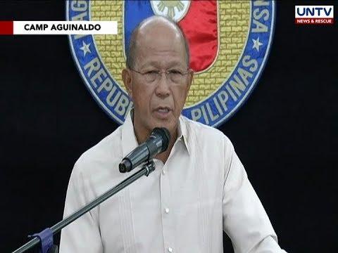 DND Sec. Lorenzana, inaming nawalan ng tiwala sa navy official na inalis sa pwesto