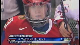 Турин.Женский хоккей.  Россия-Швейцария 2ой период