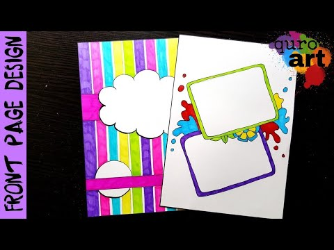 Notebook Cover Ideas Front Page design for School Project
