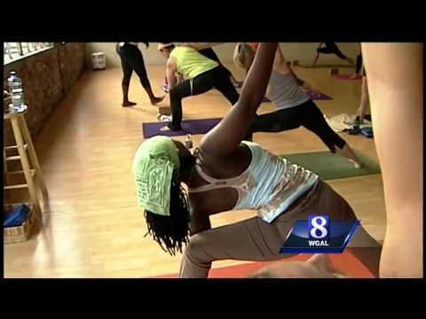 African yoga being taught Lancaster
