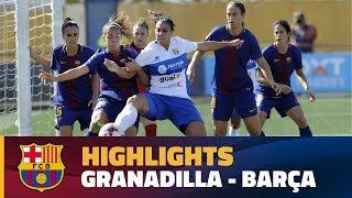 [HIGHLIGHTS] FUTBOL FEM (Liga)  Granadilla   FC Barcelona (1 0)