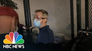 Portland Mayor Caught Up In Tear Gas At BLM Protest | NBC News NOW