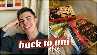 i vlogged my first day back at university - getting organised, book hauls, and running errands!!