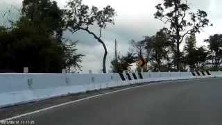 Rabid dog on highway 1095 east of Pang Mapha, Thailand
