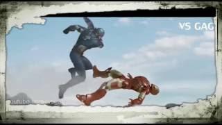 Гражданская война - Железный Человек против Капитан Америка -(сцена драки) Подвиг новый Человек-паук