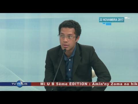 LIVE DU 22 NOVEMBRE 2017 BY TV PLUS MADAGASCAR