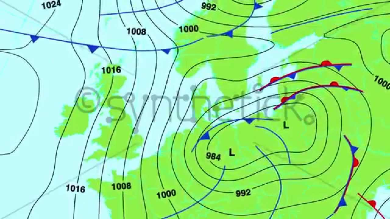 Weather Forecast Map Of Central And North Europe UK France Etc - Map of united states weather forecast