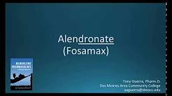 How to pronounce alendronate (Fosamax) (Memorizing Pharmacology Flashcard)