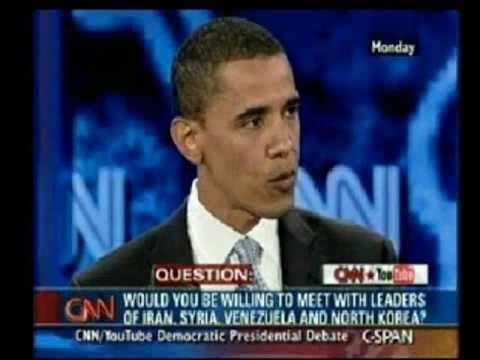 Flashback - Obama: Iran, Syria will help stabilize Iraq, & the region, Presidential debate '07;Biden