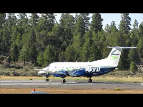 Mauiva AirCruise Embraer 120 Brasilia takes off from the Grand Canyon airport