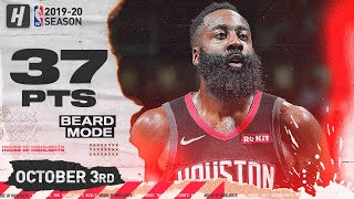 James Harden Full Highlights vs Los Angeles Clippers (2019.10.03) - 37 Pts, 7 Reb, 7 Ast!