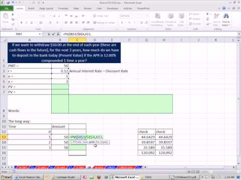 Excel Finance Class 32: Calculate Present Value of Annuity (PV Function)