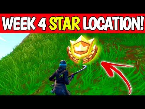 Fortnite Season 10 Week 4 Secret Battle Star Location - Season X Secret Star Location