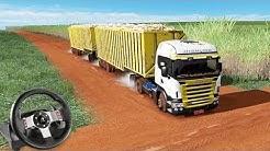 VIAGEM DE BI-TREM na ESTRADA DE TERRA!!! - Euro Truck Simulator 2 + G27