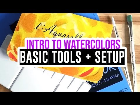 How to start with watercolors - Part1: Basic Tools and Setup