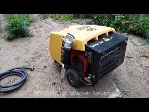 Бензиновый винтовой компрессор KAESER M 13 с пневматическим бетоноломом PERMON SK 13D