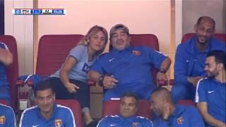 Maradona geniet van PSV - AZ in Philips Stadion