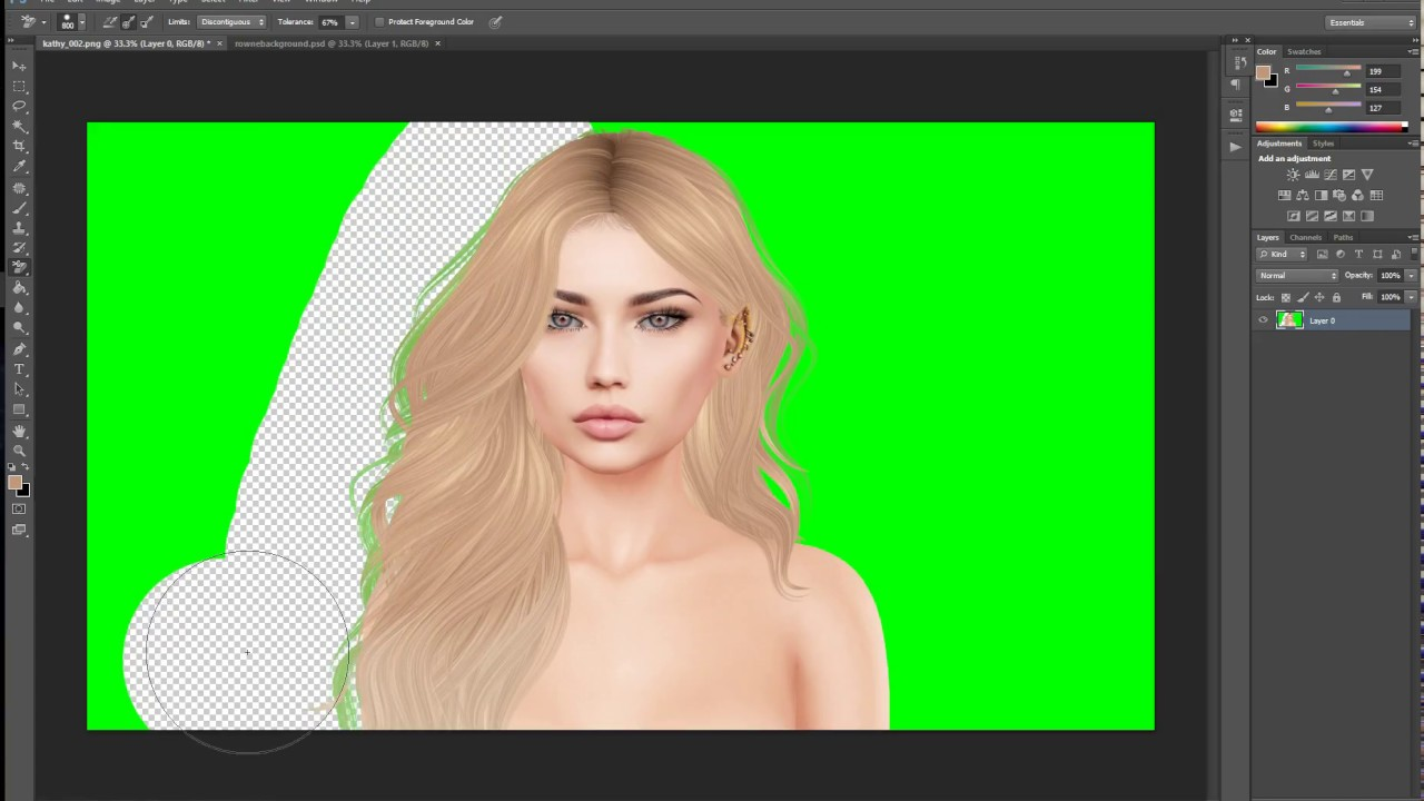 All In One Remove Greenscreen Get Rid Of Green In Hair Add Dof