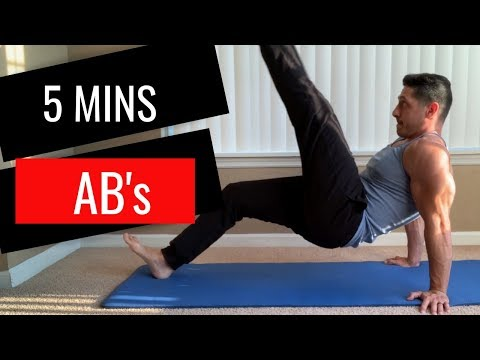 5 Min Abs Workout — At Home