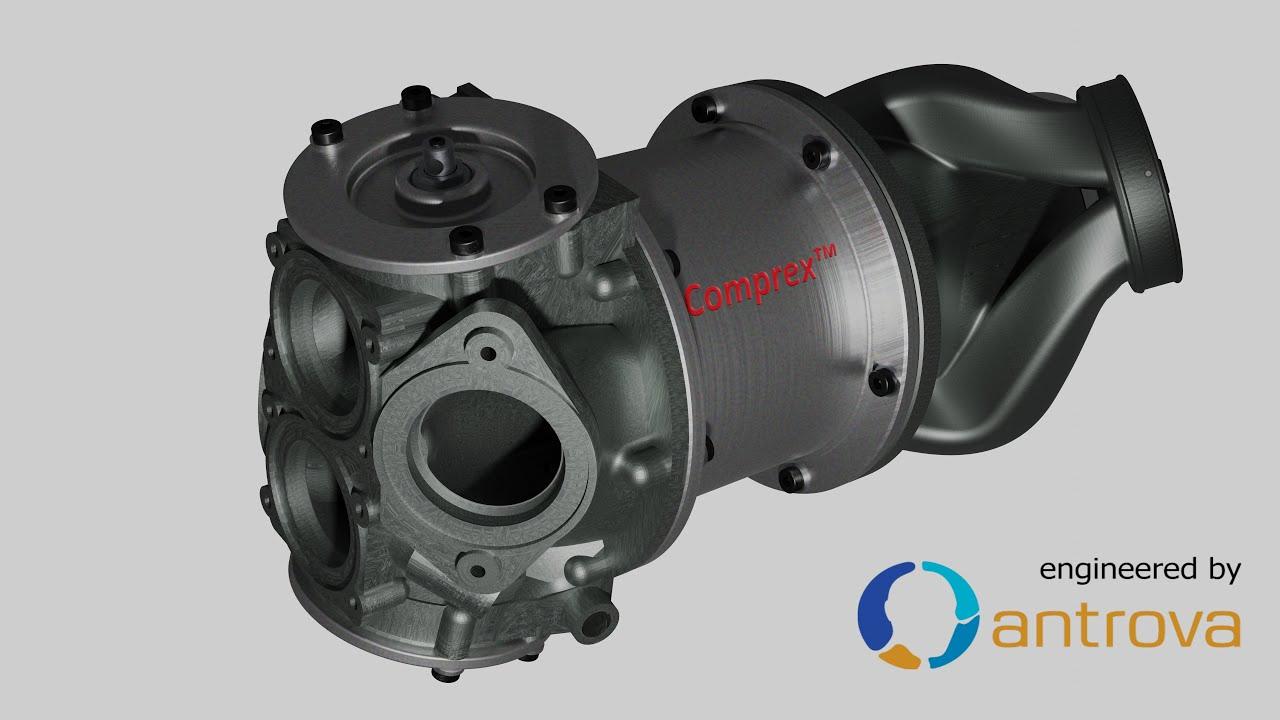 Wasserstoff Motoren und das neue Comprex™  Druckwellenlader Konzept
