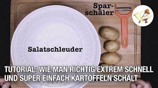 Tutorial: Wie man Kartoffeln ganz einfach und superschnell schält