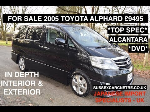2005 TOYOTA ALPHARD TOP SPEC FOR SALE IN UK NOW STUNNING CAR 50,00 MILES £9495