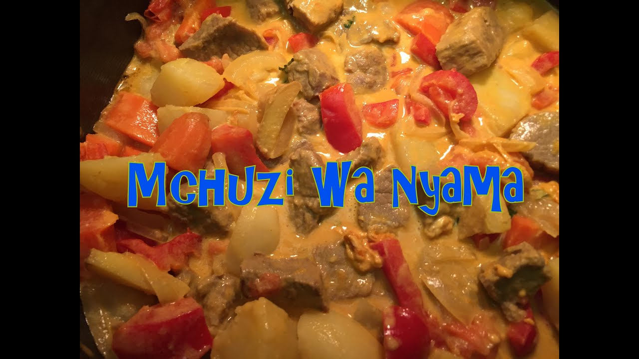 Tanzanian Coconut Beef Stew - Mchuzi wa Nyama wa Nazi (In Swahili and ...