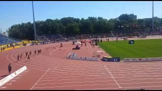 Virgin Islands Athletics Athlete Allison Peter runs the 200 meter