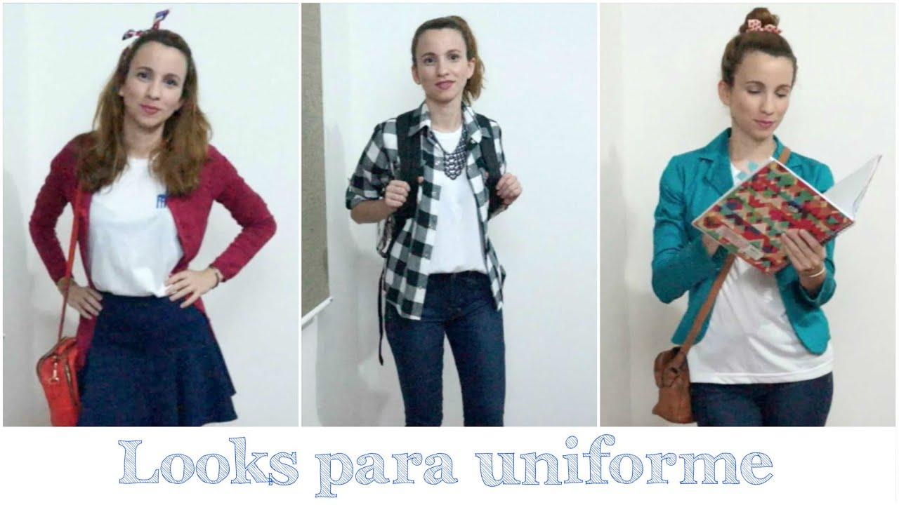 Fabuloso Looks para usar com uniforme | Volta às Aulas - YouTube OV29