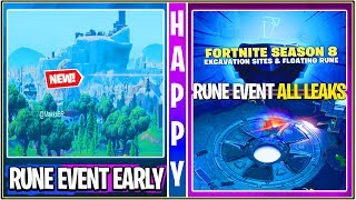*NEW* Fortnite: Leaked Rune Early Event Gameplay *Spoiler Warning* | (Next Steps & More!)