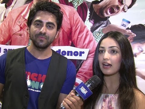 Ayushmann Khurrana & Yaami Gautam Promoting   Vicky Donor