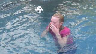 brandy being thrown in the pool