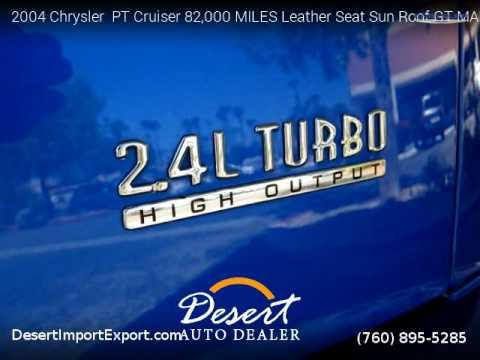 2004 Chrysler  PT Cruiser 82,000 MILES Leather Seat Sun Roof - Desert Auto Dealer