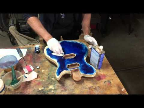 Hand Rubbed Guitar Finish Part 3 Tinting Wood With Artist Oil Paints