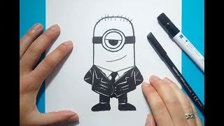 Como dibujar un minion paso a paso 6 - Minions | How to draw a minion 6 - Minions