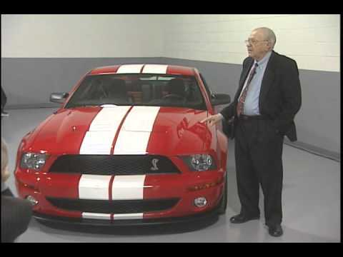 Carroll Shelby Intros Shelby Mustang Gt 500 Youtube