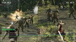 [60fps] Dark Souls 2 PS4 vs Xbox One Gameplay Frame-Rate Test
